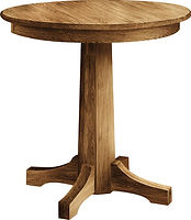 Amish oak dining table round bar table dinette set Amish furniture Pittsburgh Mills