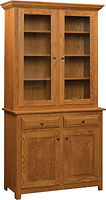 Easton Pike Two Door Hutch Rustic Cherry in Seely OCS104 42in W x 18in D x 80in H The Amish Home Amish Furniture at the Pittsburgh Mills