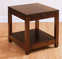 Antigo End Table with pullout tray | Brown Maple in Rich Tobacco OCS228 | 22in W x 24in D x 24in H | The Amish Home | Amish Furniture at the Pittsburgh Mills