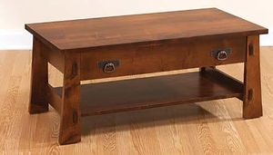 Monterey Coffee Table|Brown Maple in Asbury OCS117|42in W x 22in D x 18in H|The Amish Home|Amish Furniture at the Pittsburgh Mills