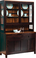Lillie 2 Door Hutch Two-tone in  52in W x 20 1/4in D x 83in H The Amish Home Amish Furniture at the Pittsburgh Mills