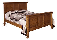 Classic Deluxe Bed|Oak in Seely OCS104|Headboard 57in H, footboard 19in H|The Amish Home|Amish Furniture at the Pittsburgh Mills