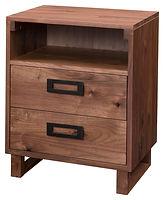 Odessa 2 Drawer Nightstand|Rustic Walnut in Natural OCS100|21in W x 17 1/2in D x 27 1/2in H|The Amish Home|Amish Furniture at the Pittsburgh Mills