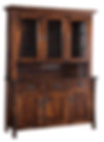 Master Hutch | Standard features include flat back, can lights, plate-grooved glass shelves, soft-close drawers and soft-close doors. Available with optional wine rack. | Brown Maple in Asbury OCS117 | 63in W x 20in D x 83in H | The Amish Home | Amish Furniture at the Pittsburgh Mills