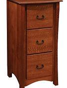 Master 3 Drawer File Cabinet|Quartersawn White Oak in Michaels OCS113|23 3/4in W x 26in D x 46in H|The Amish Home|Amish Furniture at the Pittsburgh Mills