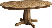 Pinnacle Single Pedestal Dining Table|Oak in Seely OCS104|Many Sizes Available|The Amish Home|Amish Furniture at the Pittsburgh Mills