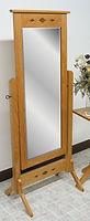 Diamond Mission Cheval Mirror|Oak in Fruitwood OCS102|26 3/4in W x 18in D x 68in H|The Amish Home|Hardwood Furniture at the Pittsburgh Mills