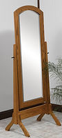 Antique Shaker Cheval Mirror|Oak in Fruitwood OCS102|26in W x 18in D x 65 1/2in H|The Amish Home|Hardwood Furniture at the Pittsburgh Mills