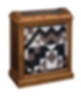 Enclosed Base Quilt Case|Oak in Medium OCS110|26 1/2in W x 14 1/4in D x 32 1/2in H|The Amish Home|Hardwood Furniture at the Pittsburgh Mills