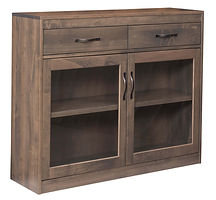 Galena Server | Brown Maple in Smoke OCS121 | 48in W x 14in D x 41in H | The Amish Home | Amish Furniture at the Pittsburgh Mills
