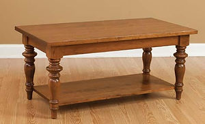 London Coffee Table|Cherry in S-14 OCS108|42in W x 22in D x 19in H|The Amish Home|Amish Furniture at the Pittsburgh Mills