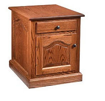 Raised Panel Enclosed End Table|Oak in Harvest OCS116|20in W x 24in D x 24in H|The Amish Home|Amish Furniture at the Pittsburgh Mills