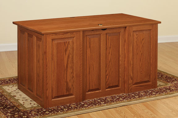 Add finished backs to desks or file cabinets