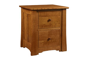 Jamestown File Cabinet with 2 Drawers|Quartersawn White Oak in Michaels OCS113|22in W x 23in D x 30 1/2in H|The Amish Home|Amish Furniture at the Pittsburgh Mills