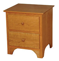 Jonas's Shaker 2 Drawer Nightstand|Oak in Seely OCS104|22in W x 19in D x 25in H|The Amish Home|Amish Furniture at the Pittsburgh Mills