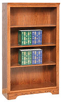 Elegance Economy Bookcase | Adjustable shelves. Flush sides. Upgrade with optional doors, return trim. | Oak in Seely OCS104 | Many Sizes Available | The Amish Home | Amish Furniture at the Pittsburgh Mills