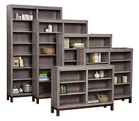 Vienna Bookcase | Brown Maple in Two-toned | Many Sizes Available | The Amish Home | Amish Furniture at the Pittsburgh Mills