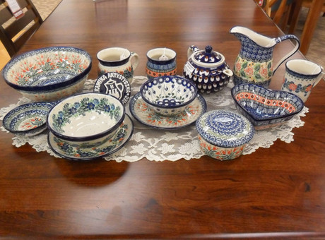 Red, White, and Polish Pottery Blues