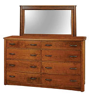 Meridian Tall Dresser|Rustic Cherry in Seely OCS104|66in W x 20 5/8in D x 41 1/2in H|The Amish Home|Amish Furniture at the Pittsburgh Mills