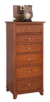 Hyland Park Lingerie Chest|Oak in Michaels OCS113|27in W x 20in D x 57in H|The Amish Home|Hardwood Furniture at the Pittsburgh Mills