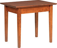 Buckeye Shaker Large End Table | Brown Maple in Michaels OCS113 | 20in W x 28in D x 24in H | The Amish Home | Amish Furniture at the Pittsburgh Mills