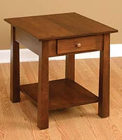 Stratford End Table | Rustic Cherry in Asbury OCS117 | 22in W x 24in D x 24in H | The Amish Home | Amish Furniture at the Pittsburgh Mills
