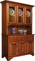 Landsbury Hutch|Oak in Michaels OCS113|54in W x 19 1/2in D x 82in H|The Amish Home|Amish Furniture at the Pittsburgh Mills