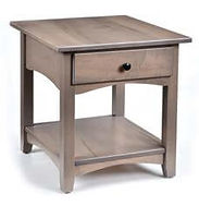 Steve's Modern Shaker End Table | Brown Maple in Cappuccino OCS119 | 22in W x 24in D x 24in H | The Amish Home | Amish Furniture at the Pittsburgh Mills