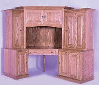 Heirwood 82 Corner Computer Center | Oak in Fruitwood OCS102 | 73in W x 24in D x 74 3/4in H | The Amish Home | Amish Furniture at the Pittsburgh Mills