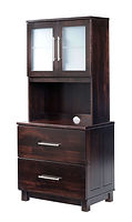 Urban Lateral File with Hutch| in |32in W x 21in D x 71in H|The Amish Home|Hardwood Furniture at the Pittsburgh Mills