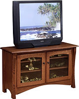 Master TV Stand | Quartersawn White Oak in Asbury OCS117 | 50in W x 20in D x 30in H | The Amish Home | Amish Furniture at the Pittsburgh Mills