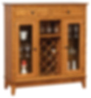 Canterbury Wine Cabinet|Oak in Seely OCS104|49in W x 17 1/2in D x 52 1/2in H|The Amish Home|Amish Furniture at the Pittsburgh Mills