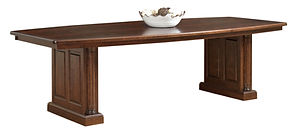 Jefferson Conference Table | Standard with 1 1/4in thick top | Cherry in Chocolate Spice FC-9090 | 48in W x 108in D x 30 3/4in H | The Amish Home | Amish Furniture at the Pittsburgh Mills