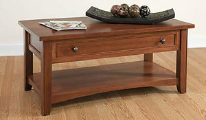 Madison Coffee Table|Cherry in Washington OCS107|48in W x 22in D x 18in H|The Amish Home|Hardwood Furniture at the Pittsburgh Mills