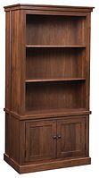 Cambridge Gun Cabinet | Brown Maple in Asbury OCS117 | 36in W x 22in D x 72 1/2in H | The Amish Home | Amish Furniture at the Pittsburgh Mills