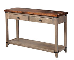 Frontier Hall Table|Reclaimed Barn Oak in Asbury OCS117|48in W x 16in D x 30in H|The Amish Home|Hardwood Furniture at the Pittsburgh Mills