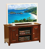 Economy TV Stand|Brown Maple in Espresso|45in W x 18in D x 24in H|The Amish Home|Hardwood Furniture at the Pittsburgh Mills