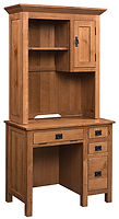 Ray's Mission Student Desk   Rustic Quartersawn White Oak in Medium OCS110   36in W x 20in D x 72in H   The Amish Home   Amish Furniture at the Pittsburgh Mills