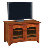 Wayne's Modern Shaker TV Stand | Quartersawn White Oak in Michaels OCS113 | 40in W x 18in D x 25in H | The Amish Home | Amish Furniture at the Pittsburgh Mills