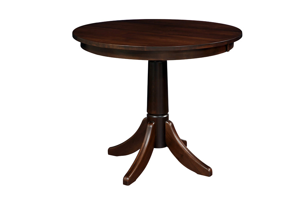 Classic Shaker Bar Dining Table|Brown Maple in Rich Tobacco OCS228|Many Sizes Available|The Amish Home|Amish Furniture at the Pittsburgh Mills