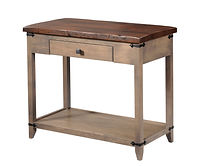 Frontier Sofa Table | Reclaimed Barn Oak in Asbury OCS117 | 36in W x 18in D x 30in H | The Amish Home | Amish Furniture at the Pittsburgh Mills