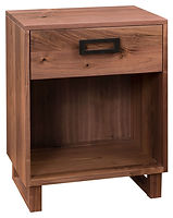 Odessa 1 Drawer Nightstand|Rustic Walnut in Natural OCS100|21in W x 17 1/2in D x 27 1/2in H|The Amish Home|Amish Furniture at the Pittsburgh Mills