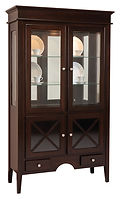 Blakely 2 Door Hutch Brown Maple in Onyx OCS230 48in W x 18in D x 82in H The Amish Home Amish Furniture at the Pittsburgh Mills