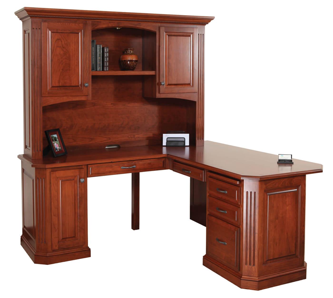 Buckingham L-Desk with Hutch