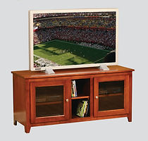 Economy TV Stand|Brown Maple in Acres OCS106|52in W x 18in D x 24in H|The Amish Home|Hardwood Furniture at the Pittsburgh Mills