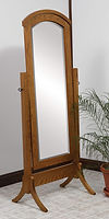 Crown Shaker Cheval Mirror|Oak in Medium OCS110|26in W x 18in D x 66 1/2in H|The Amish Home|Hardwood Furniture at the Pittsburgh Mills