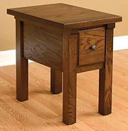 Butler End Table|Oak in Asbury OCS117|17in W x 24in D x 24in H|The Amish Home|Amish Furniture at the Pittsburgh Mills