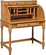 Junior's Large Student Roll Top Desk shown open | Oak in Seely OCS104 | 40in W x 24in D x 49in H | The Amish Home | Amish Furniture at the Pittsburgh Mills
