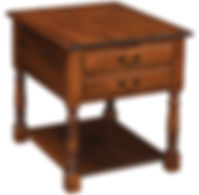 Biltmore End Table | Rustic Cherry in Michaels OCS113 | 24in W x 28in D x 26in H | The Amish Home | Amish Furniture at the Pittsburgh Mills