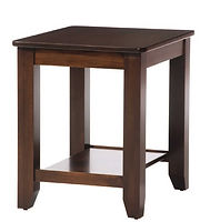Economy End Table|Brown Maple in Espresso|24in W x 20in D x 24in H|The Amish Home|Hardwood Furniture at the Pittsburgh Mills